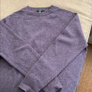 J Crew raglan style crew neck sweater